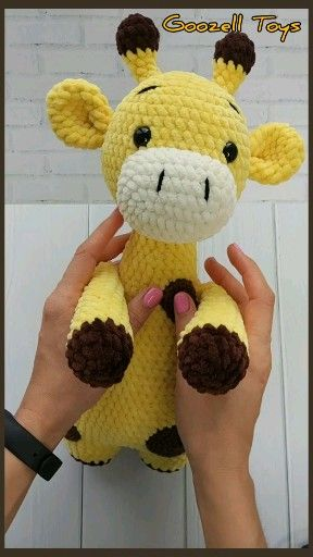 GIRAFFE CROCHET PATTERN, Crochet animal pattern, Amigurumi pattern Plush Giraffe stuff animal