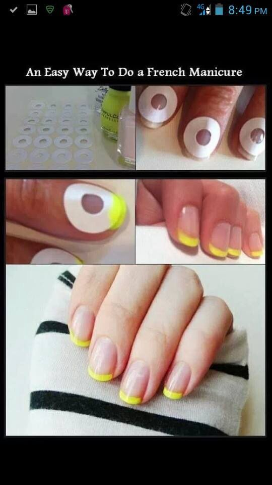 For Beginners An Easy To Do French Manicure French Manicures Diy Manicure Tutorials Diy Manicure