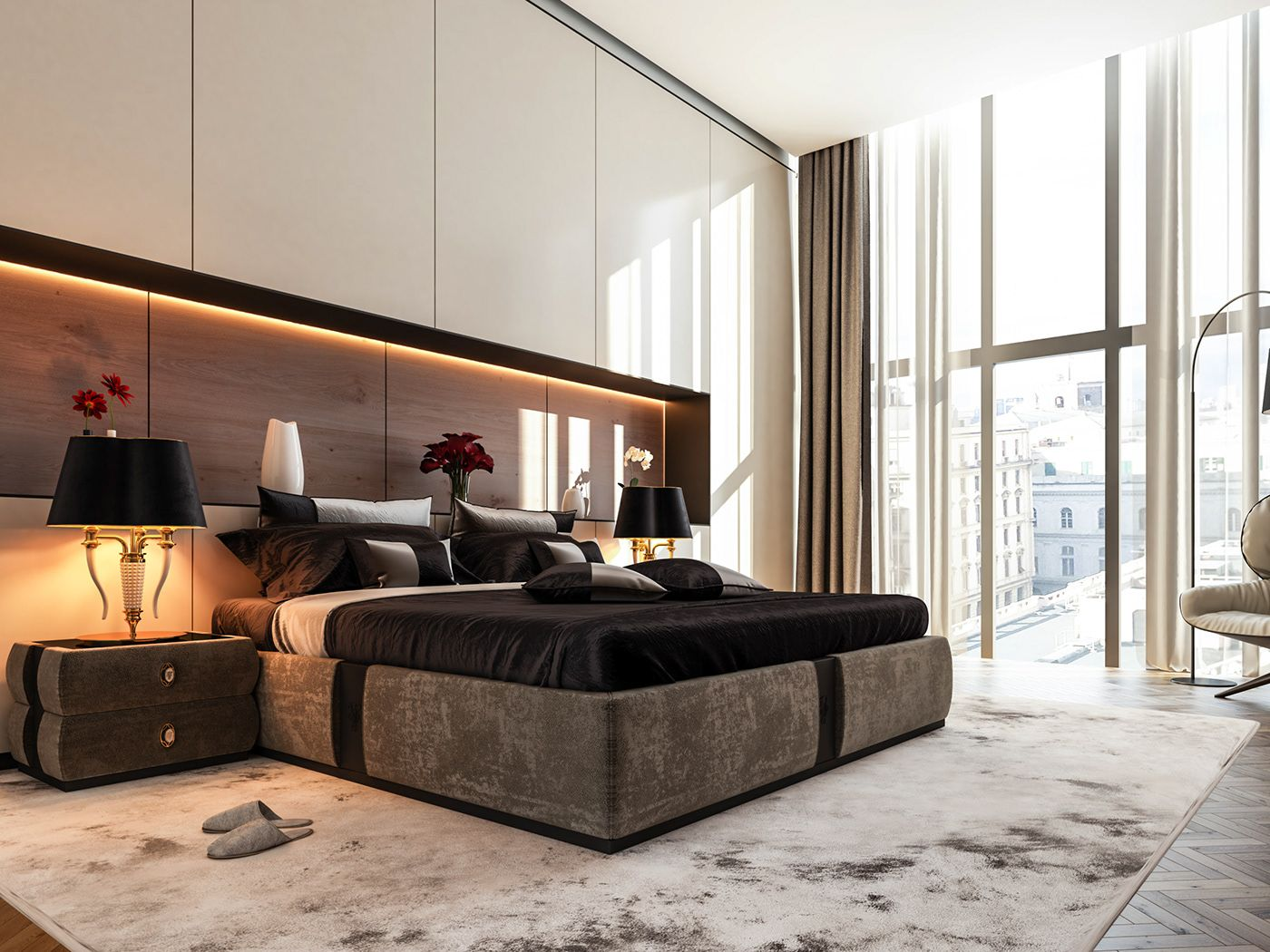 Modern hotel room milan italy on behance new project for Hotel design italia