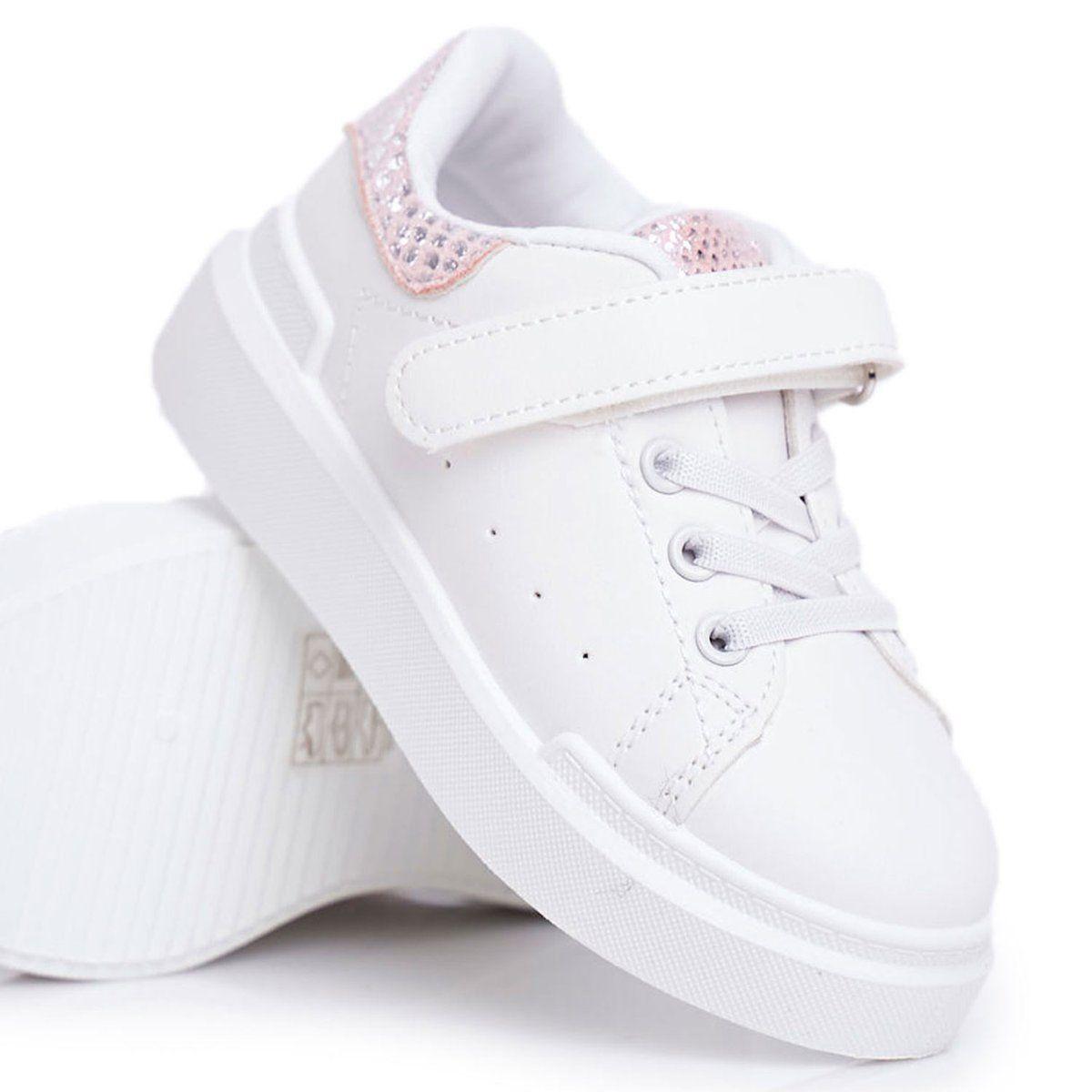 Frrock Obuwie Sportowe Dzieciece Na Rzep Biale Ilonka Rozowe Adidas Sneakers Adidas Stan Smith Sneakers