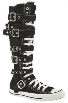 a002e181fa6 I found  CONVERSE~BUCKLE CHUCK~Knee High~BLACK~All Sizes!~New  on Wish