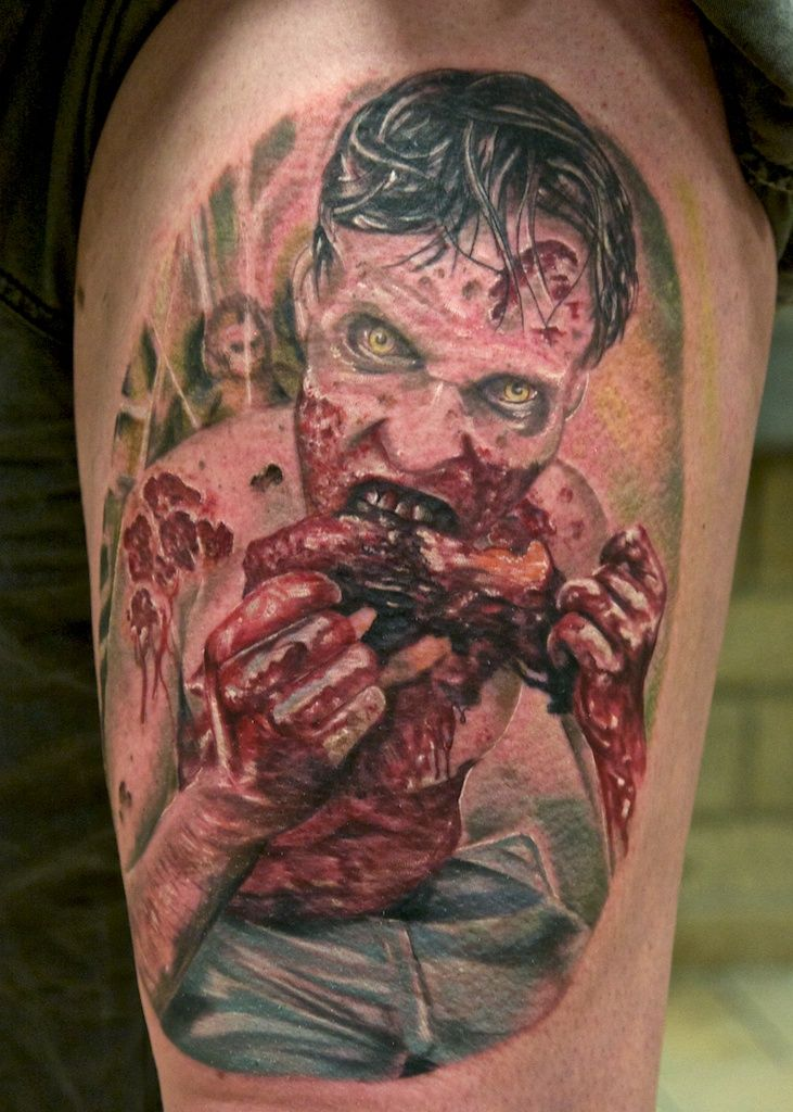 Walking Dead Zombie Tattoo By Graynd Cannibal Corpse Diseños