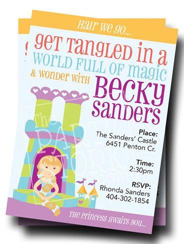 Tangled birthday invitations elizabeths neverending b day party tangled birthday invitations filmwisefo Images