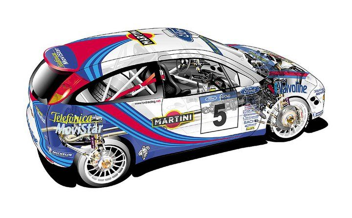 Ford Focus WRC rally car  sc 1 st  Pinterest & Ford Focus WRC rally car | Coches | Pinterest | Rally car Ford ... markmcfarlin.com