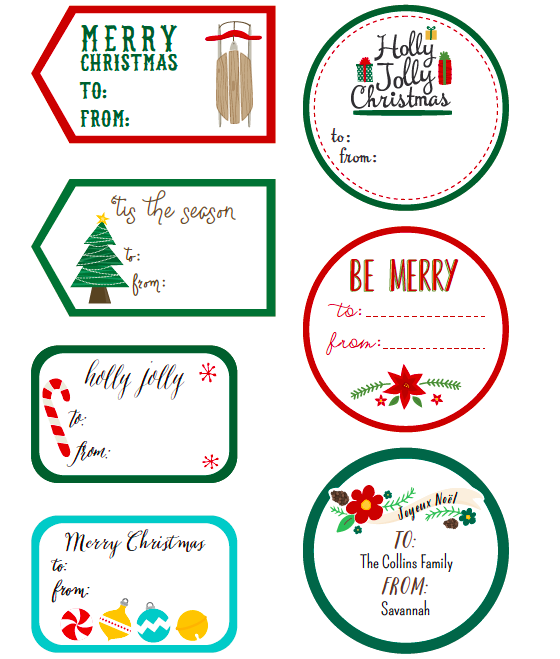 FREE Printable Christmas Label Templates by @Angie Sandy Design ...