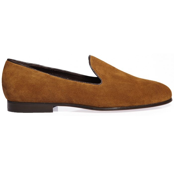 TOBACCO SUEDE SLIPPERS