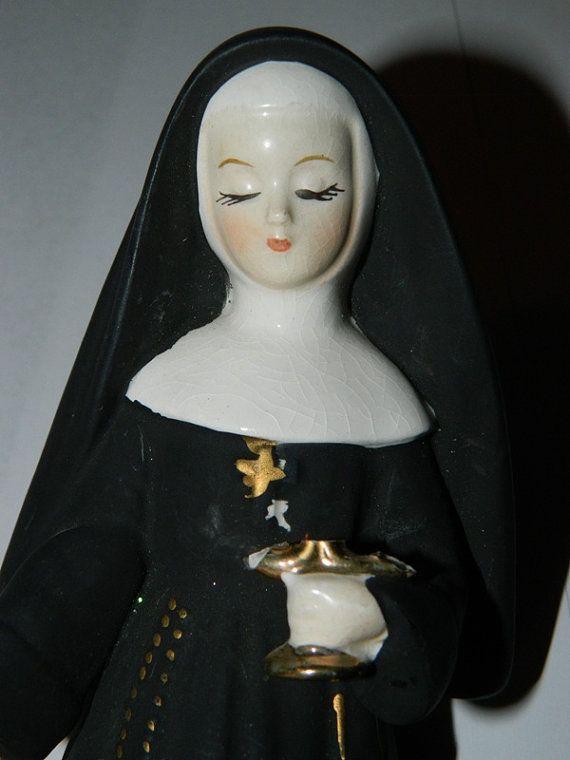 Vintage nun posing