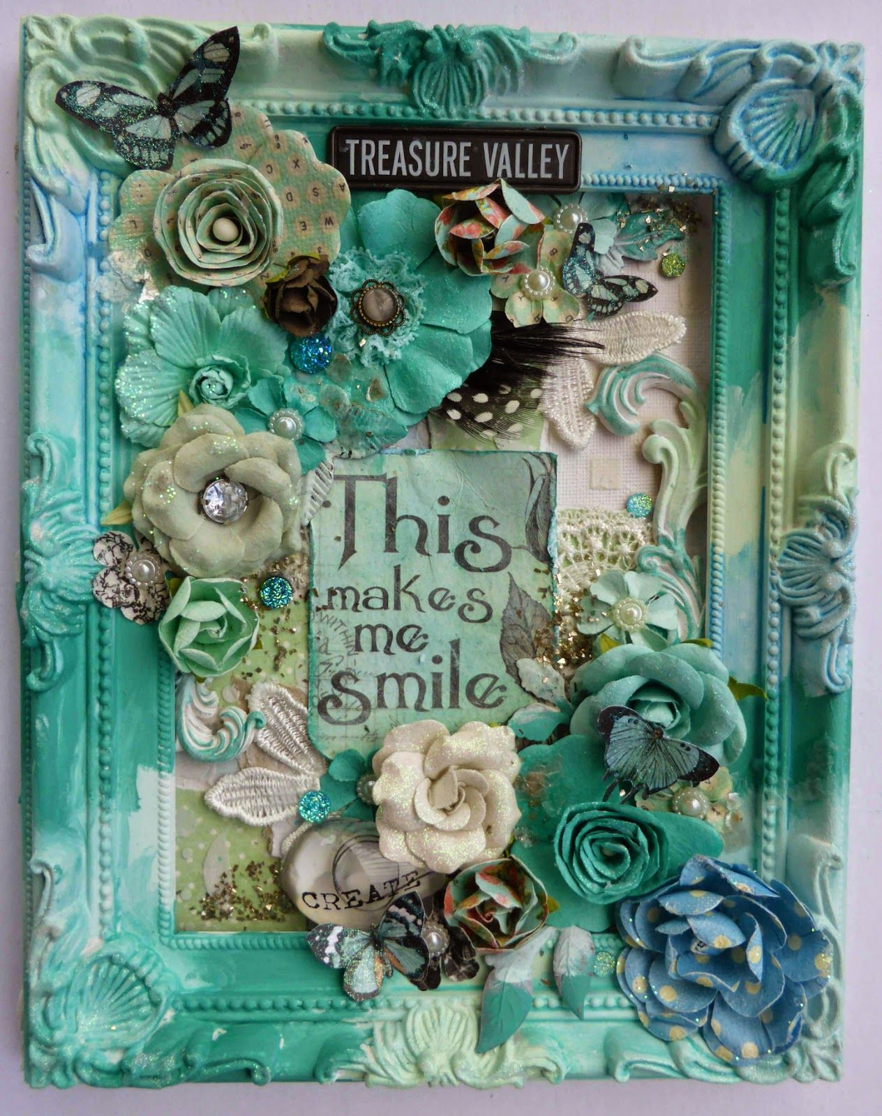 Bec Genet - My Scrappin Spot: This Makes Me Smile Altered Canvas ...