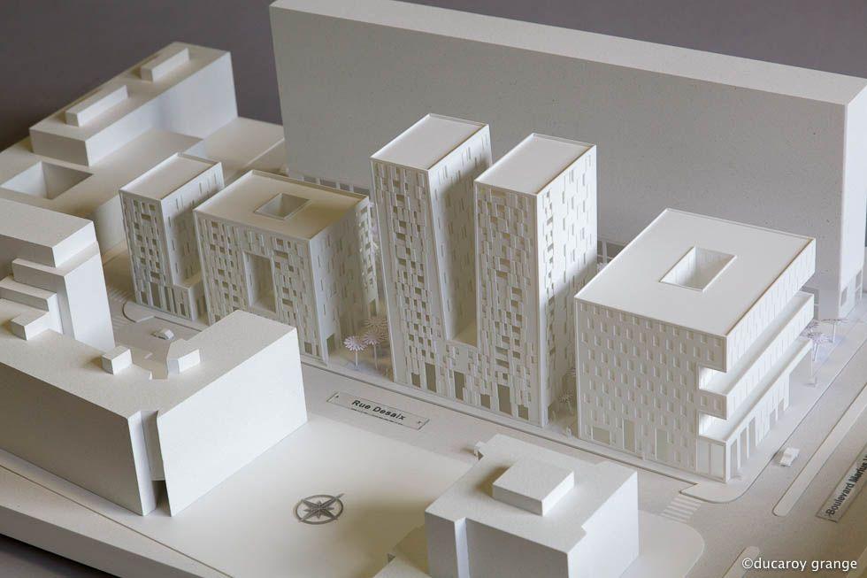 Préférence Maquette blanche au 1/333 | ARCHI - Maquette | Pinterest  RM13