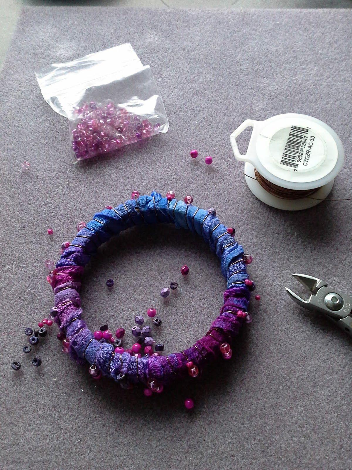 Upcycled Sari Silk Bangles Tutorial Silk bangles