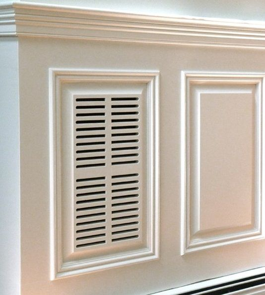 An Attractive Air Return Vent In Custom Made Raised Panel