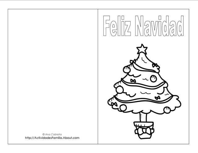 Descargra gratis tarjetas de navidad para colorear - Figuras navidenas para imprimir ...