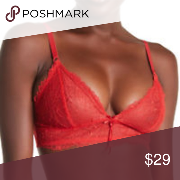 4e93afe5d6 4  25 Heidi Klum Women s Sheer Red Lace Bra New Designed with the modern  woman