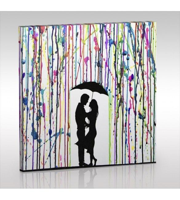 Love The Rain Canvas Tablo