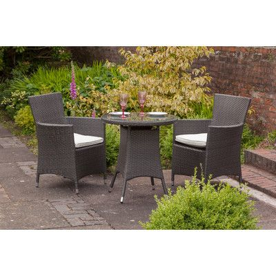 Termonde 2 Seater Bistro Set with Cushions | Pinterest