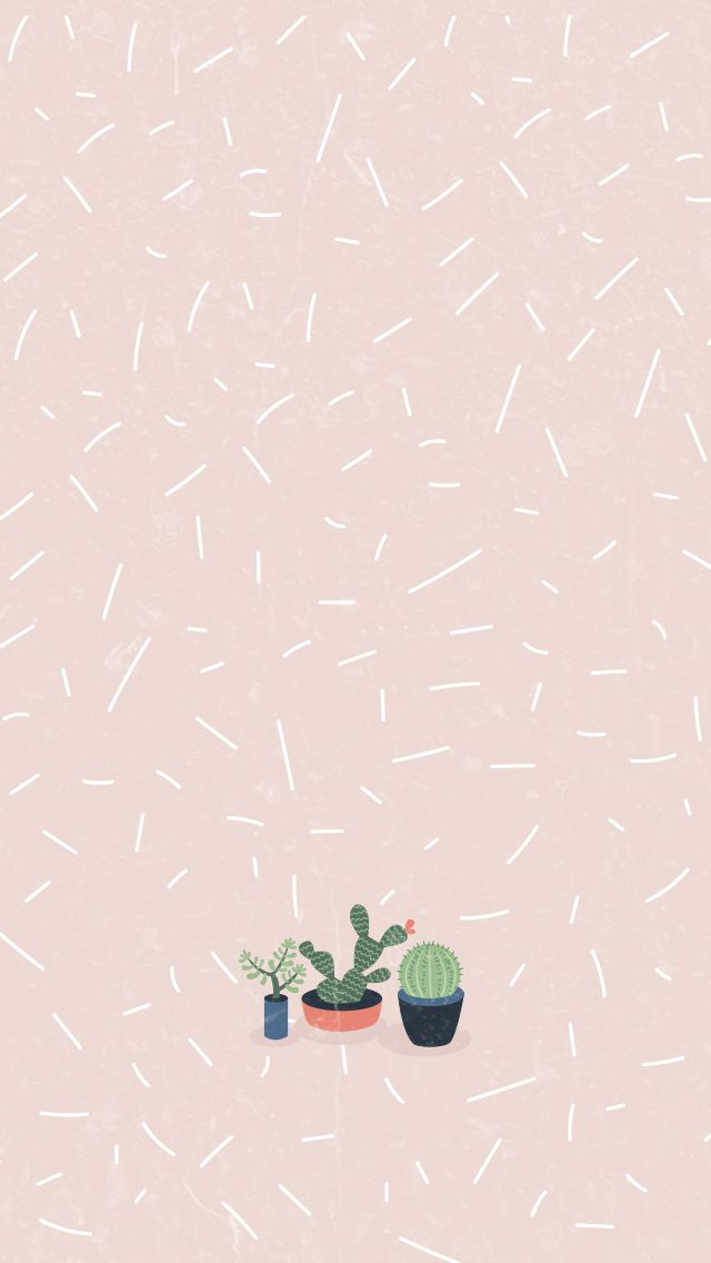Cactus girl pastel iphone home wallpaper panpins iphone for Wallpaper home pinterest