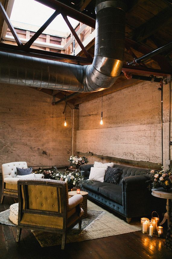Romantic, industrial fall wedding at Luce Loft in San Diego