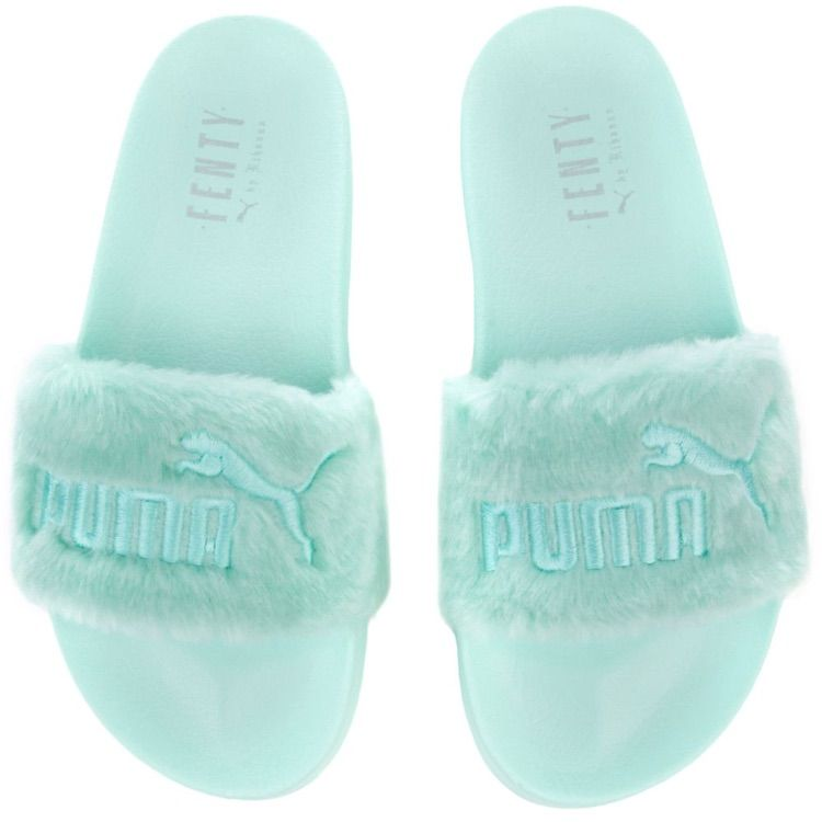 Fenty Beauty Shoes | Fenty Slides | Color: BlueGreen | Size