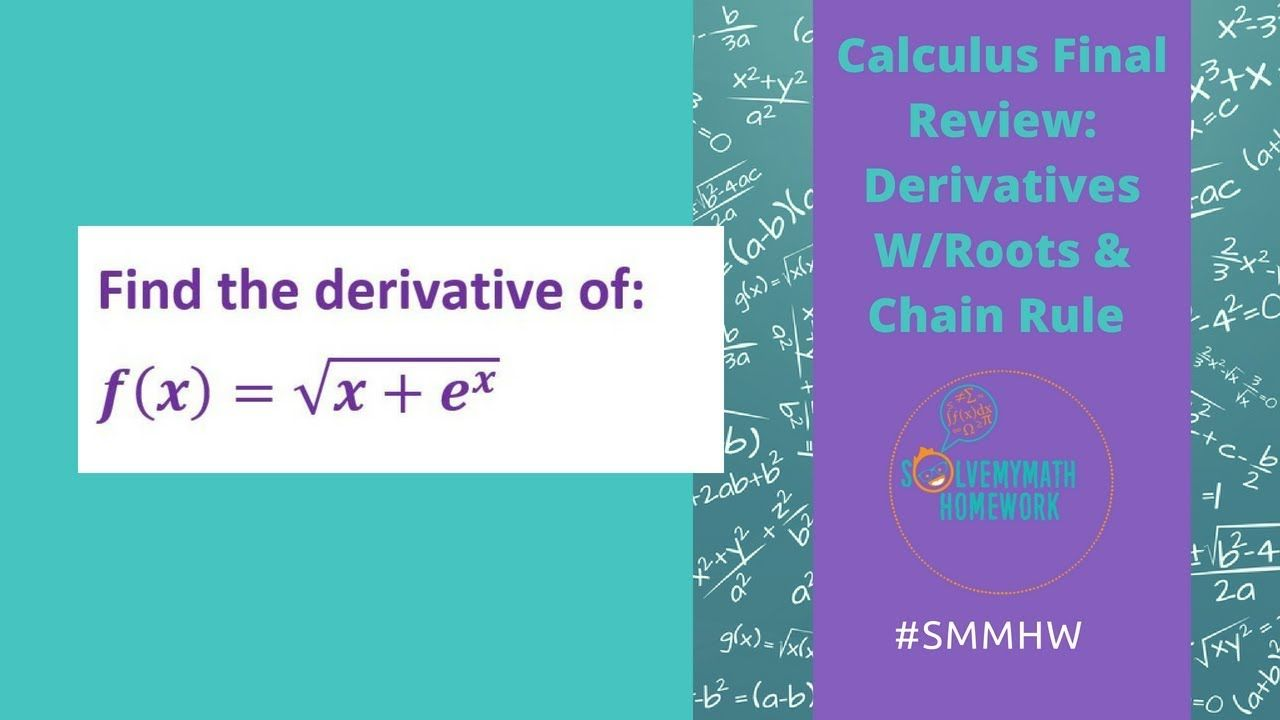 Derivatives With Power And Chain Rule Chain Rule Math Videos Calculus