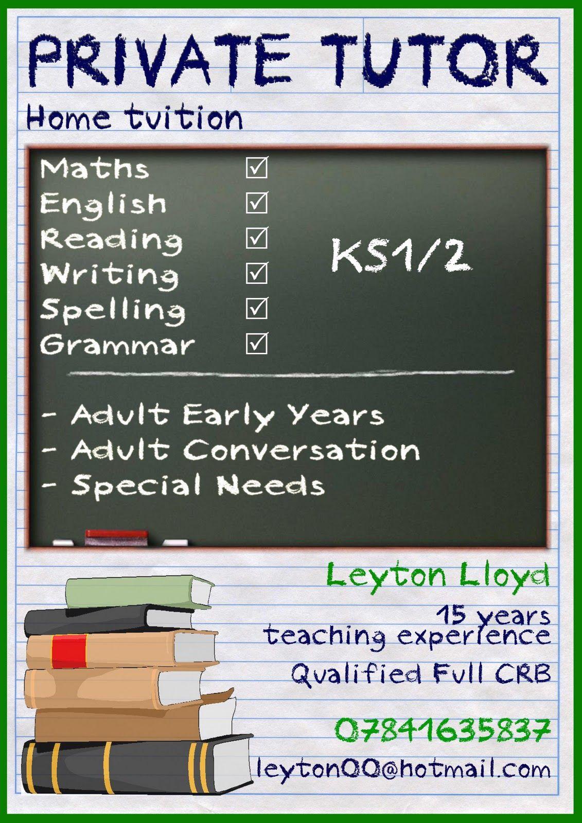 image result for tutor leaflet