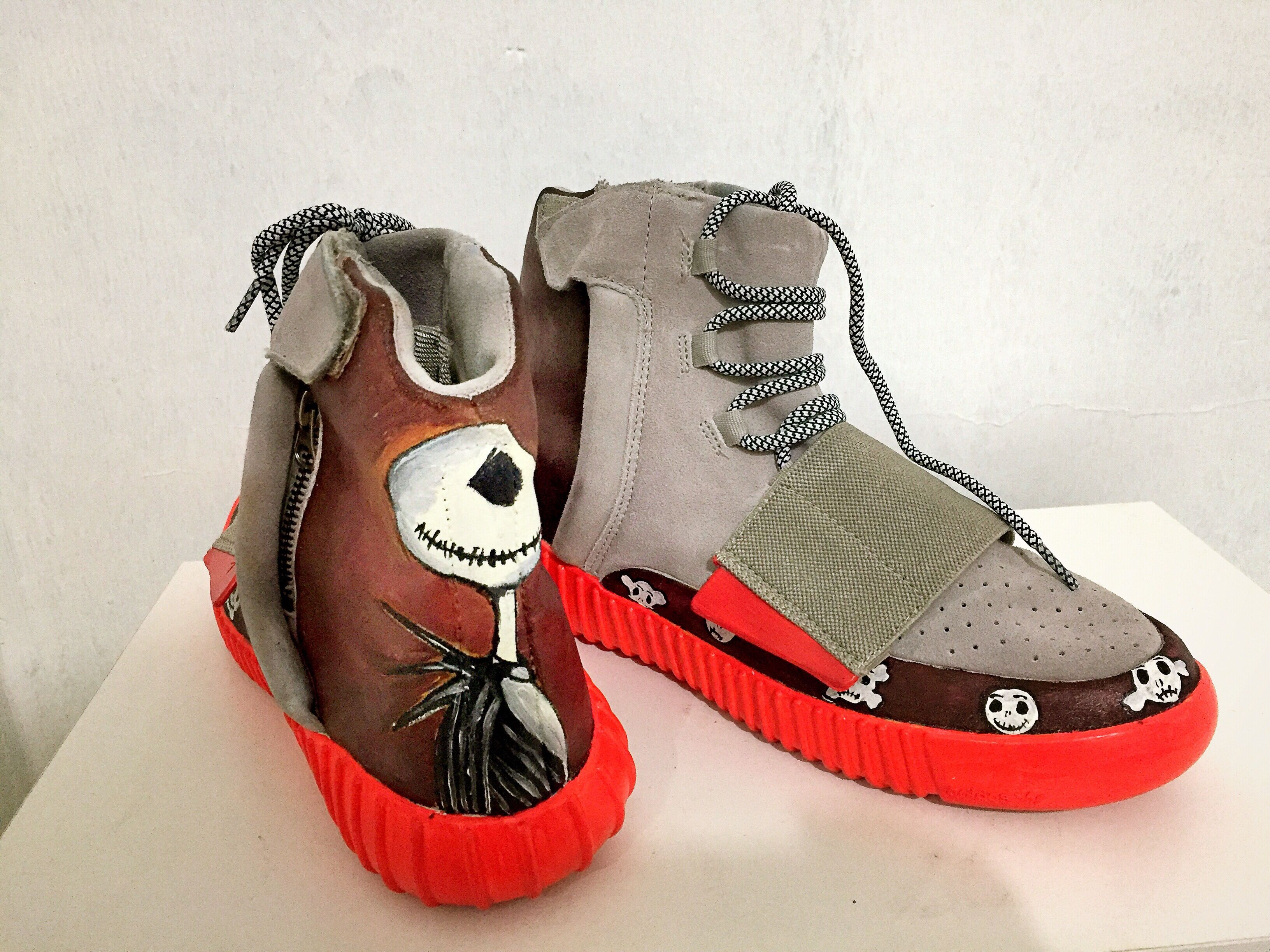 3a877ad0cc5 Adidas yeezy customized shoes jack and sally nightmare before christmas jpg  3264x2448 Custom yeezy 750