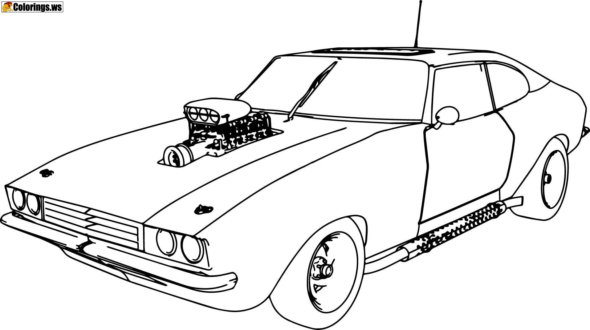 Muscle Sport Car Coloring Pages