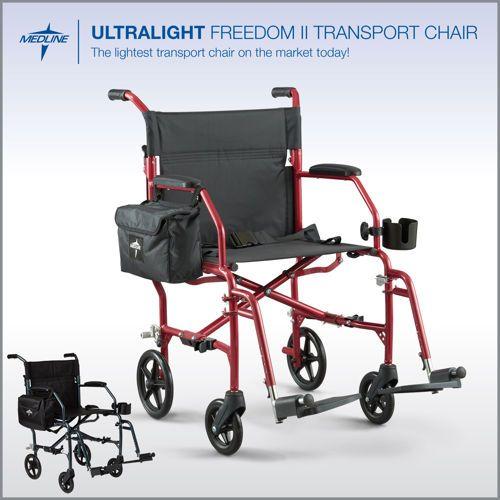UltraLight Freedom II Transport Wheelchair by Medline