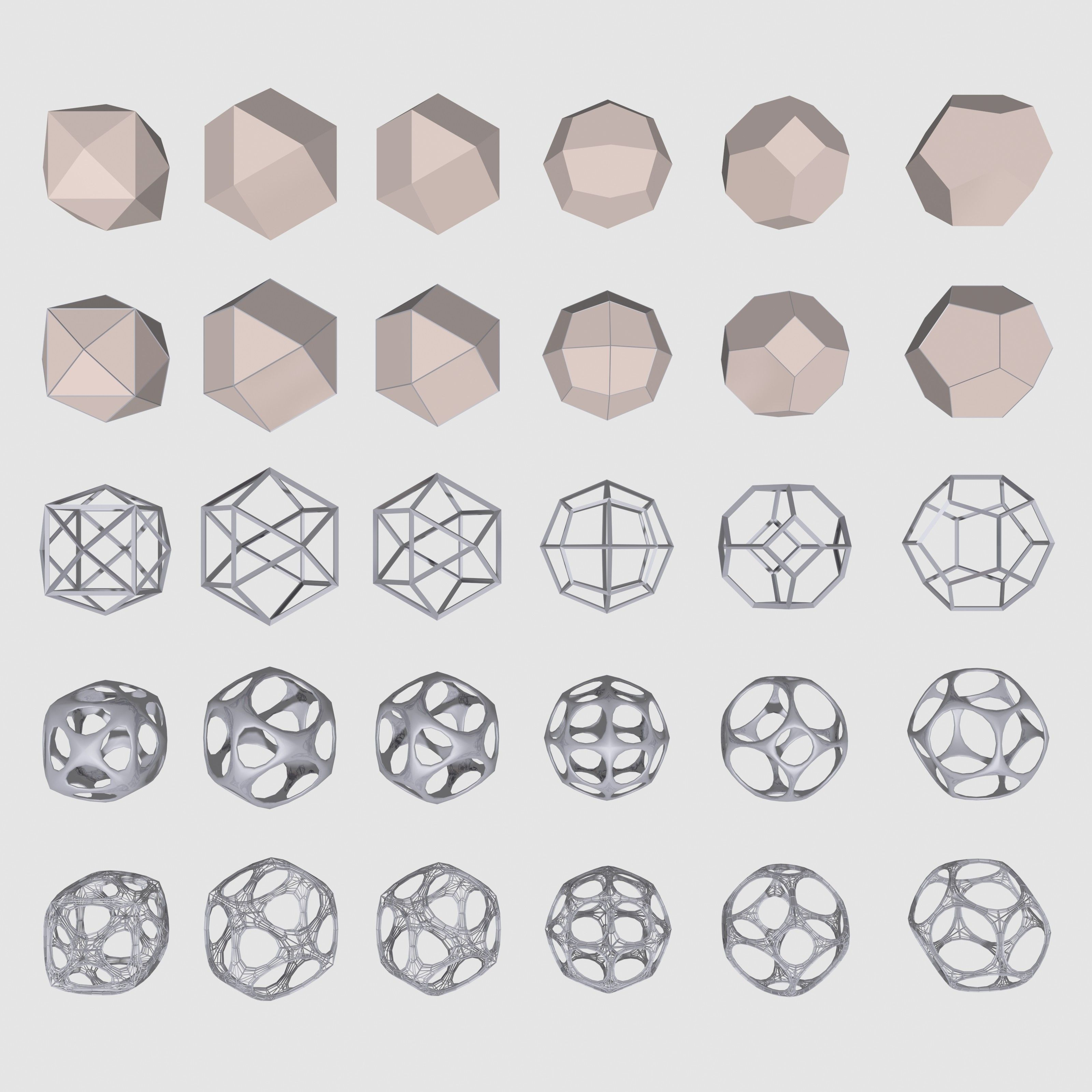 geometrical mc 02 shapes 3d max | 3d models | Pinterest | 3d ...