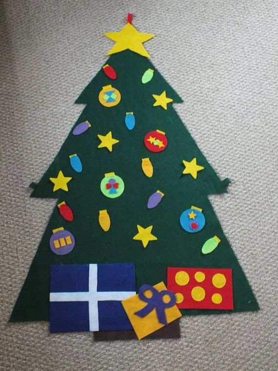 Felt Christmas Tree toy  Great for children to decorate by Riahly, $34.00