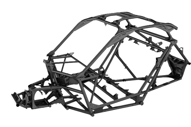 The Can-Am Maverick X3 frame in detail. This is the strongest OEM ...