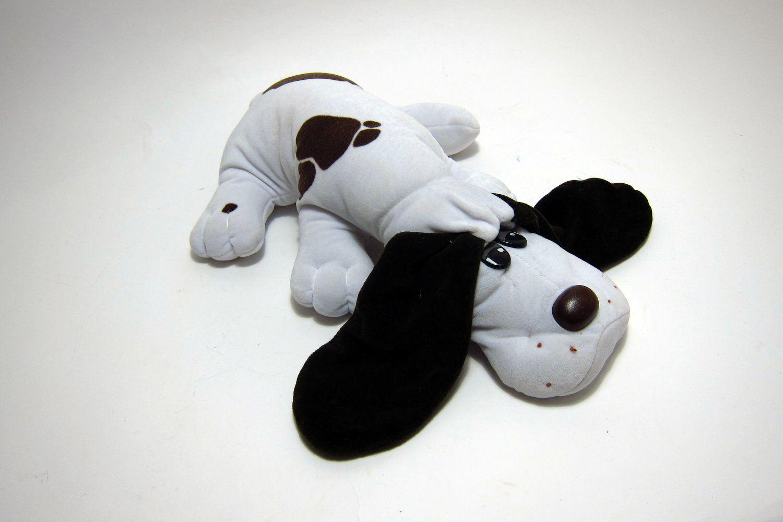 Vintage Pound Puppies 80's Toys White with Black Spots