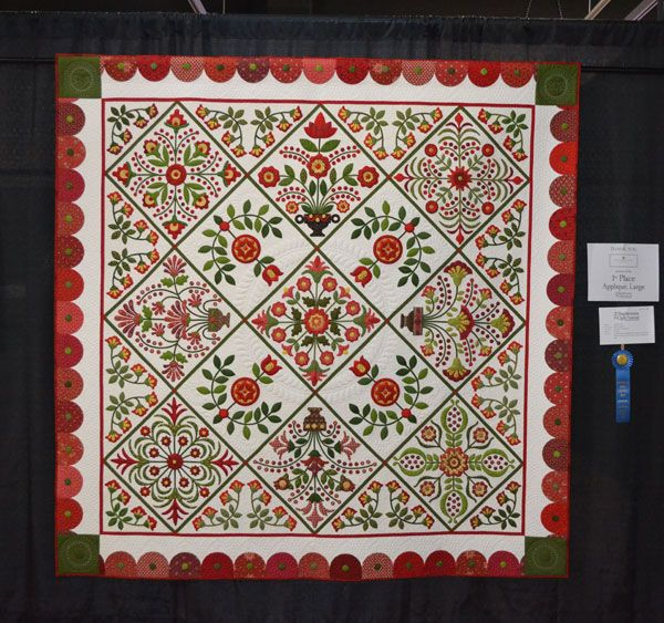 1stplaceapplique Shipshewana Quilt Show 2014 Quilts Pinterest