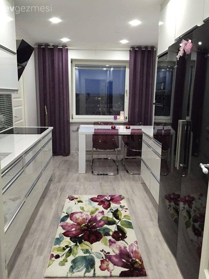 seda han m n mor vurgulu k ve modern mutfa nazl pinterest moderne k che k chen. Black Bedroom Furniture Sets. Home Design Ideas