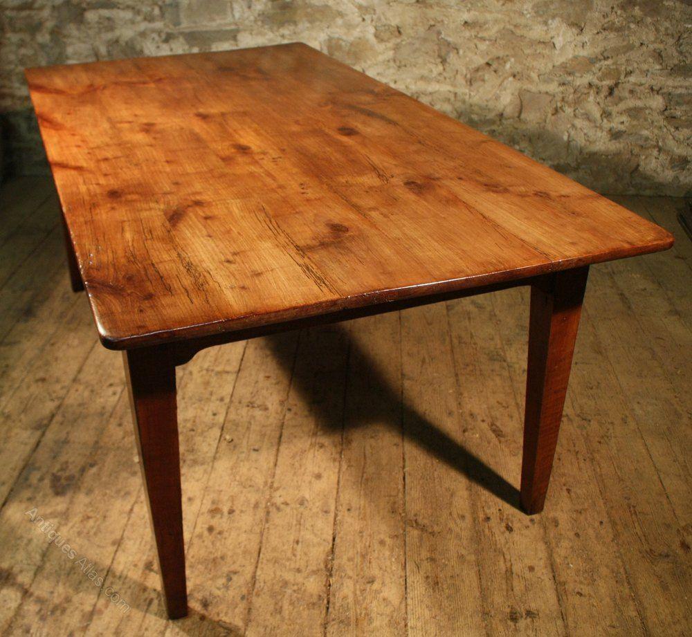 Cherry Wood Farmhouse Table Antique Kitchen Table Kitchen Table Wood Table