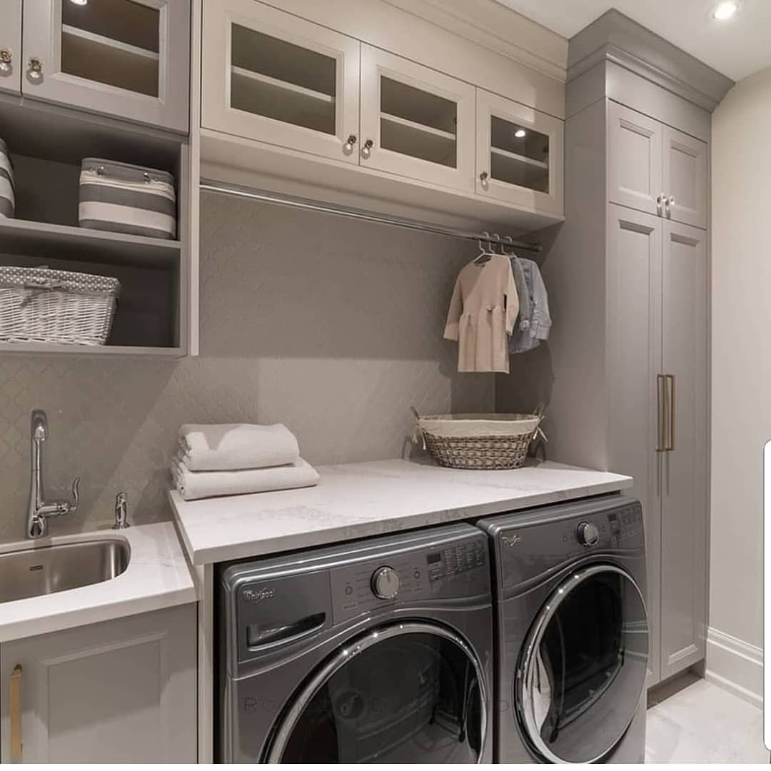 "Home Decor/Interior Design on Instagram: ""Laundry room #goals... . Via @niicomillworkgroup #lovefordesign"