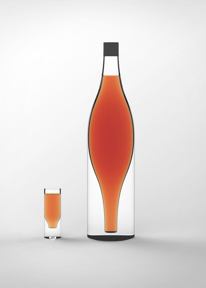 Anton Shvydkyi Poleg Existential Cognac Bottle Bottle Bottle Design Wine Bottle