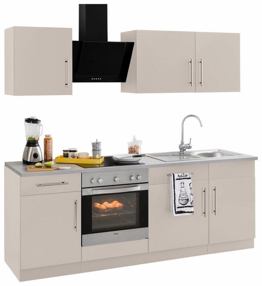Wiho Küchen Küchenzeile Cali Mit E Geräten Breite 220 Cm