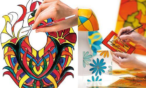 Best 25 pebeo vitrail ideas on pinterest vitraux for Fenetre en vitrail