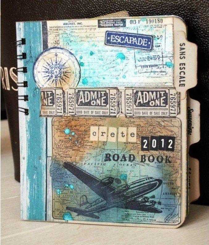 comment faire un carnet de voyage id es inspirantes en 60 photos scrapbooking scrap and. Black Bedroom Furniture Sets. Home Design Ideas