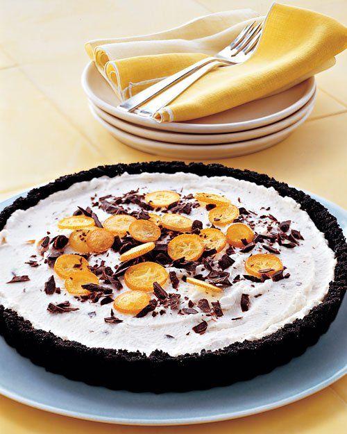 Ricotta Tart with Chocolate and Kumquats
