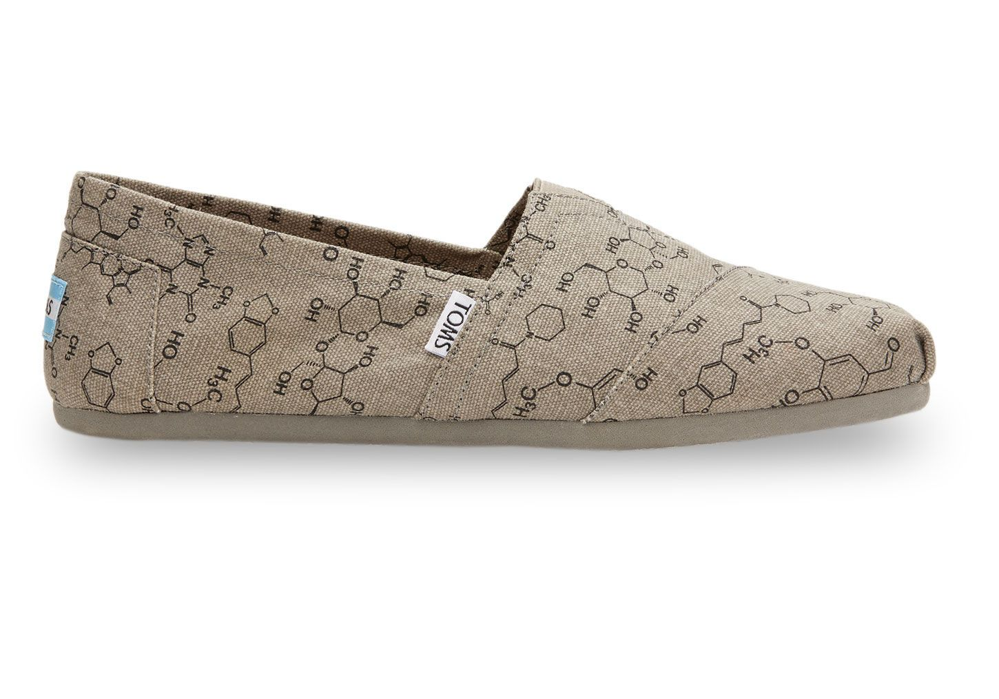 Grey Chemical Structure Men's Classics for the perfect science major  student #TOMS GIVE BACK TO
