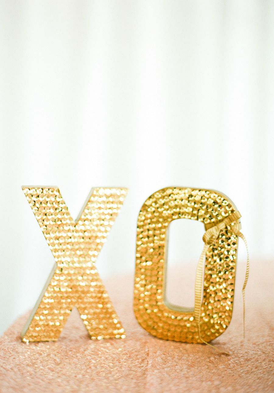 Large Sequin Letters -- This wedding, pretty much has it all!! On SMP here: http://www.StyleMePretty.com/2014/02/21/crossing-vineyards-winery-wedding/ Lindsay Madden Photography