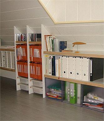 organiser un espace bureau en bois dans les combles bonne id e pinterest bureau en bois. Black Bedroom Furniture Sets. Home Design Ideas