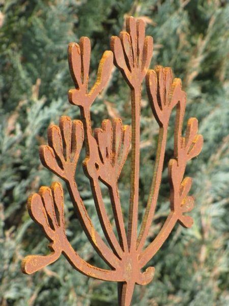 Gartenstecker rostigen Blüte Metall Rost Gartendeko Edelrost mit Glas