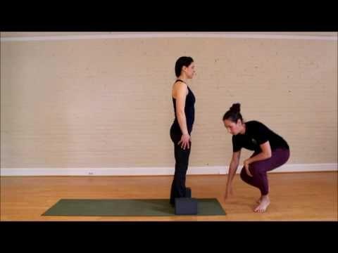 how to use blocks for sun salutations beginner yoga