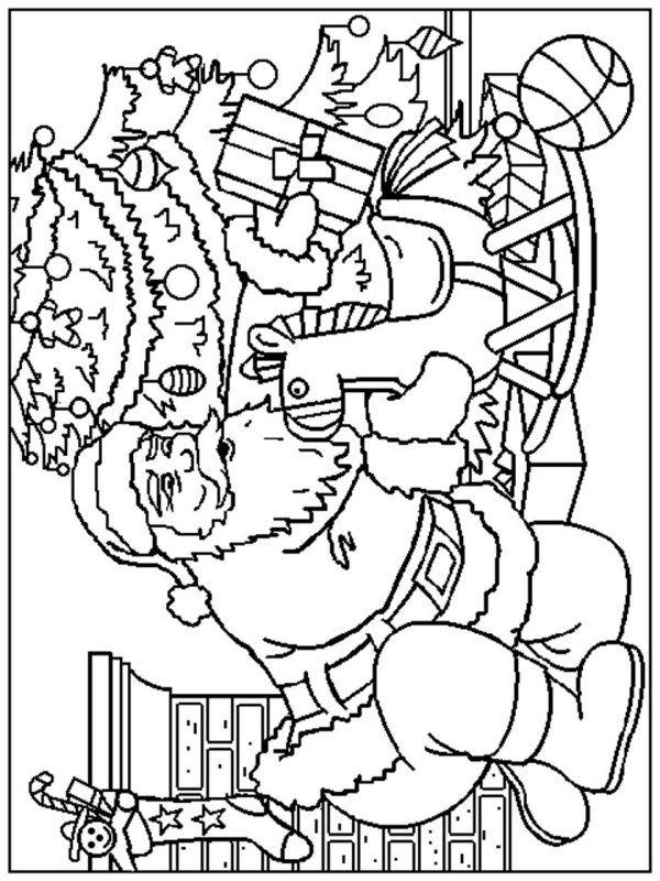 Santa Claus Coloring Pages Juletegninger Til Farvelægning Santa