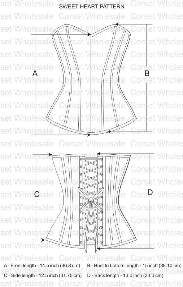 overbust corset pattern - Google Search | ตัดเย็บเครื่องประดับ ...