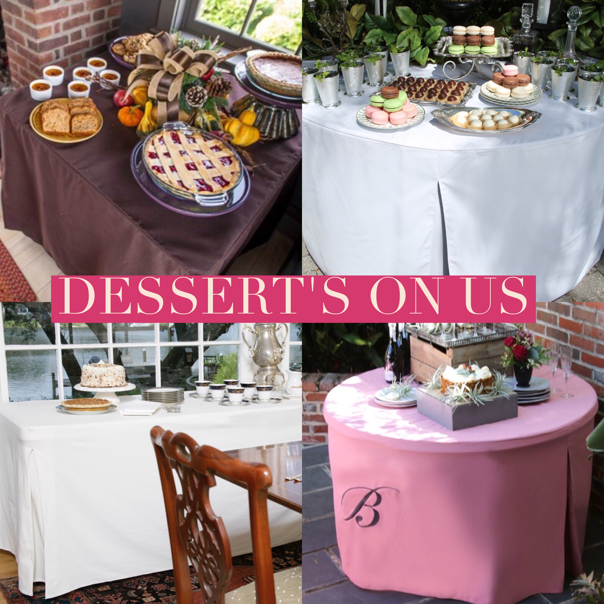 Yup, Dessertu0027s On Us. Folding Table + Tablevogue U003d Sweet ...