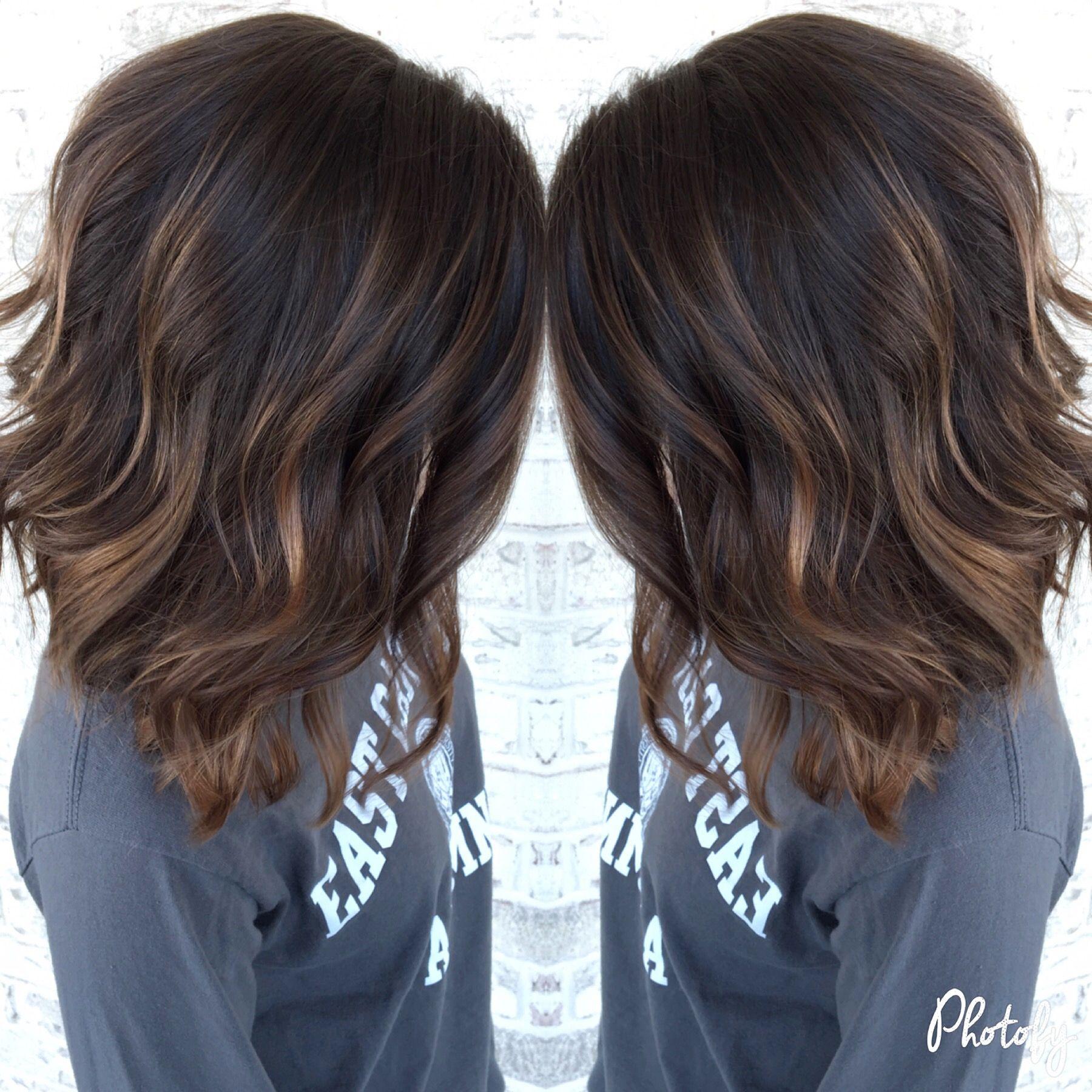 Beautiful Subtle Balayage Hair Color Flamboyage Brown Hair With Highlights Hair Highlights