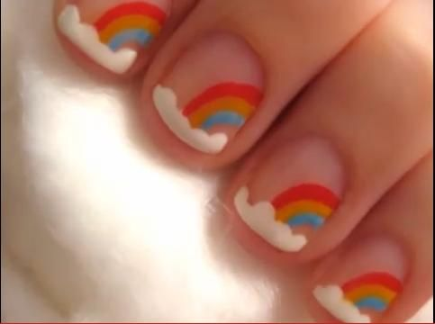 Rainbow for short nails nails ideas pinterest short nails cute nail designs for short nails short nail rainbow designs prinsesfo Gallery